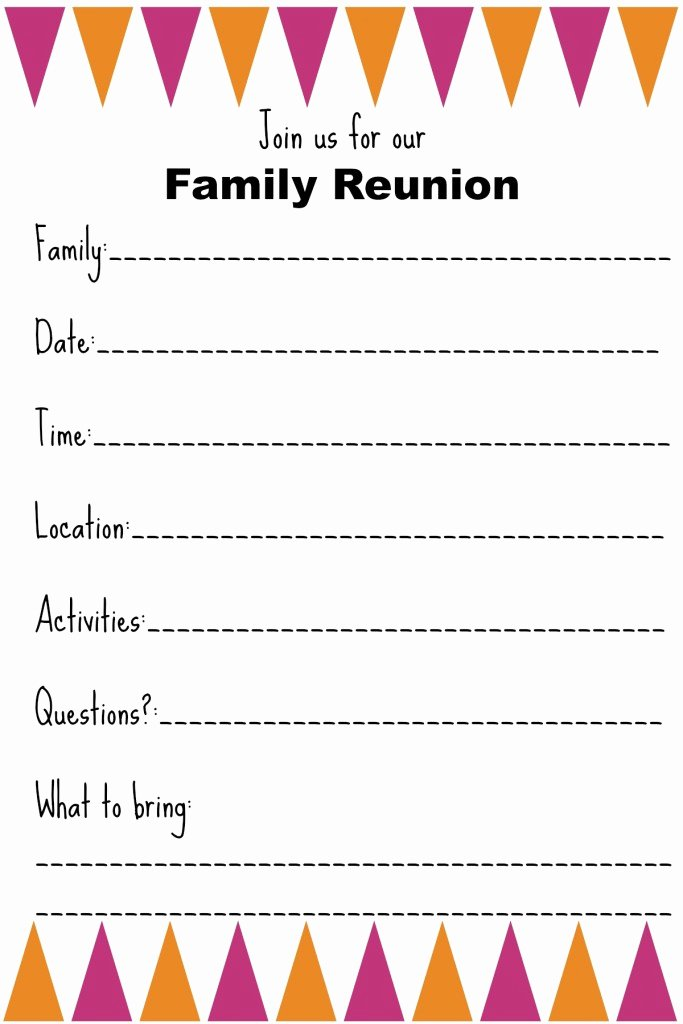 Family Reunion Letters Template New Family Reunion Invitation Templates Ginny S Recipes & Tips