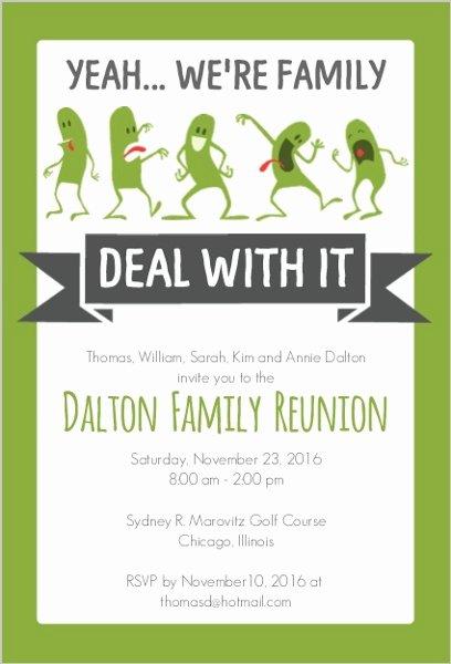Family Reunion Program Template Awesome Funny Family Reunion Invitation