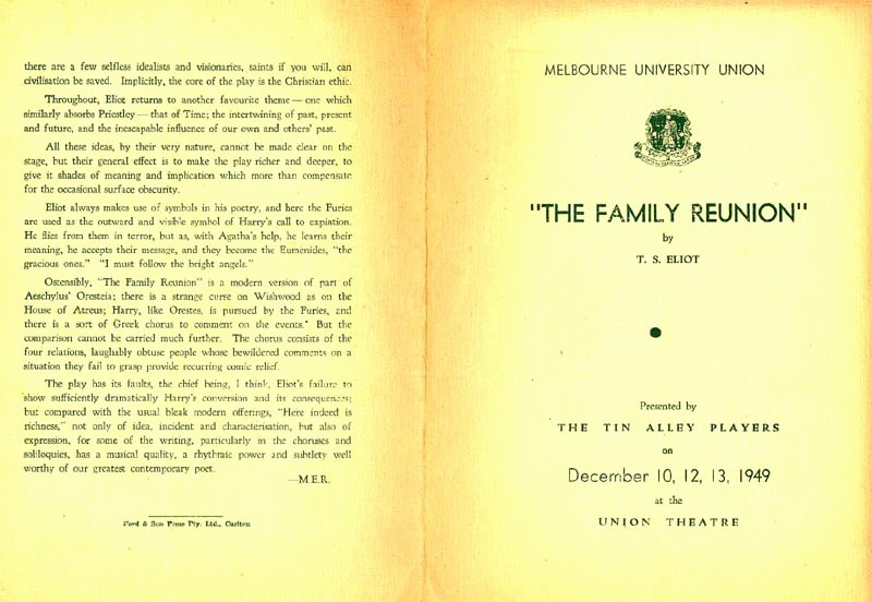 Family Reunion Program Template Awesome the Family Reunion – 12 10 1949