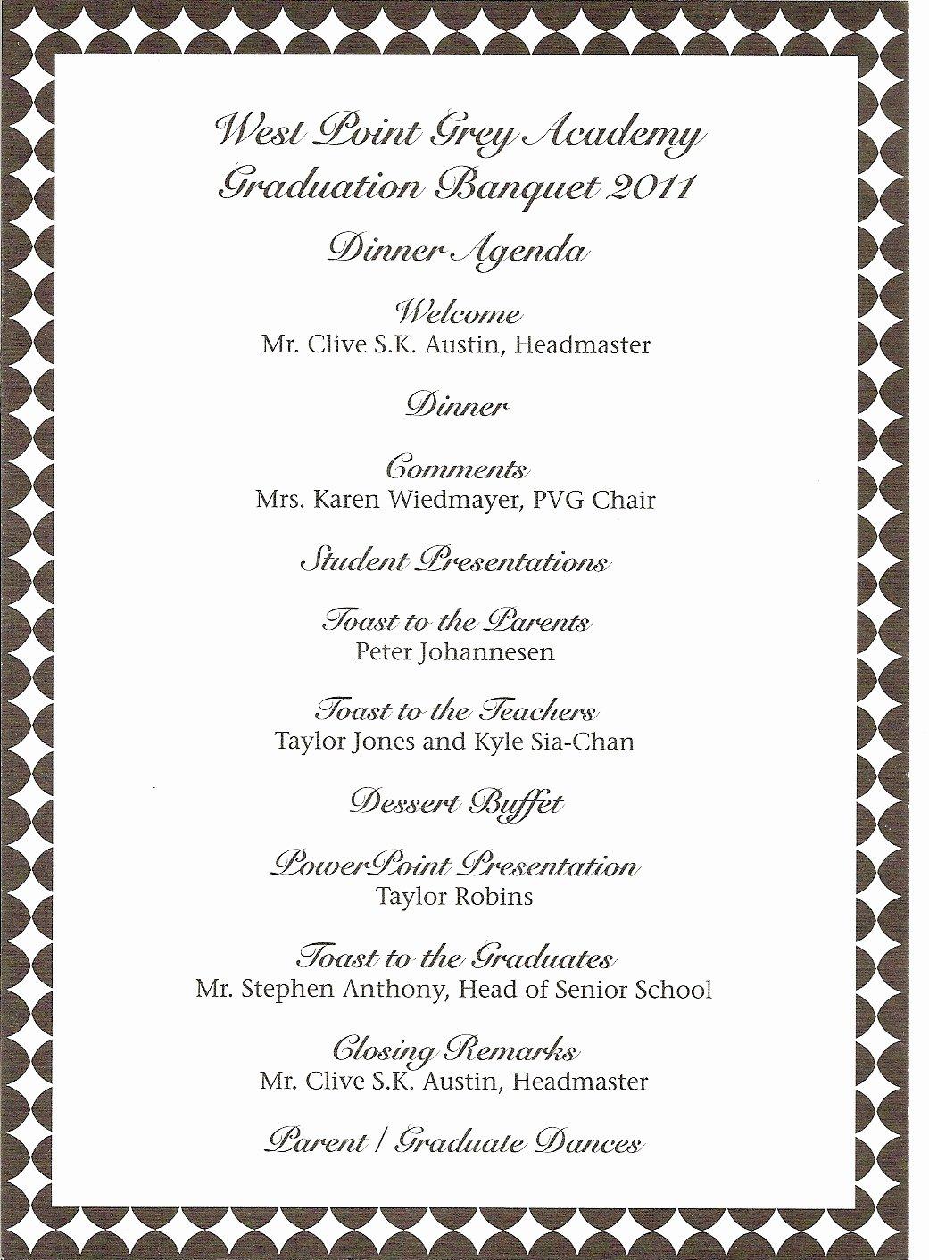 Family Reunion Program Template Fresh Donna S Report Wpga Graduation Banquet Teddy