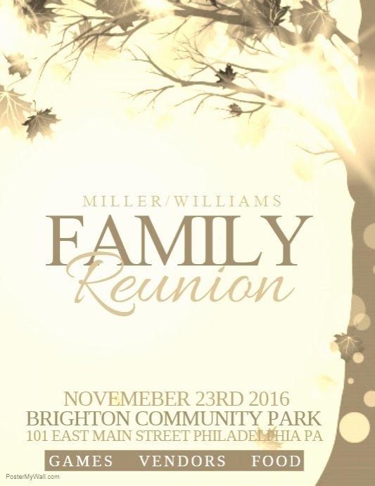 Family Reunion Program Template Fresh Family Reunion Template