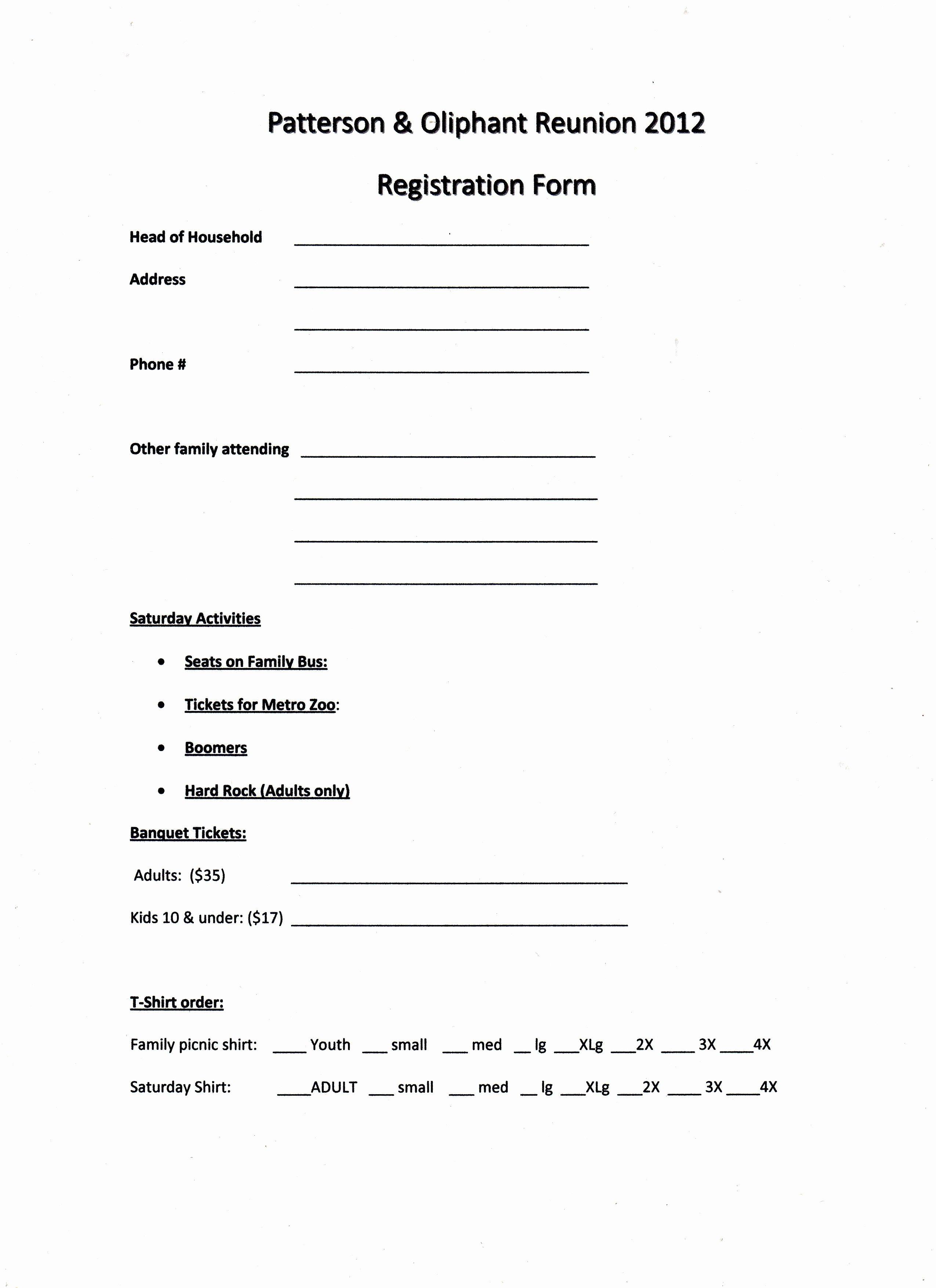 Family Reunion Program Template Fresh Printable Example Of Family Reunion Program