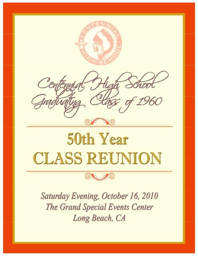 Family Reunion Program Template Inspirational souvenir Book Centennial H S 50th Reunion