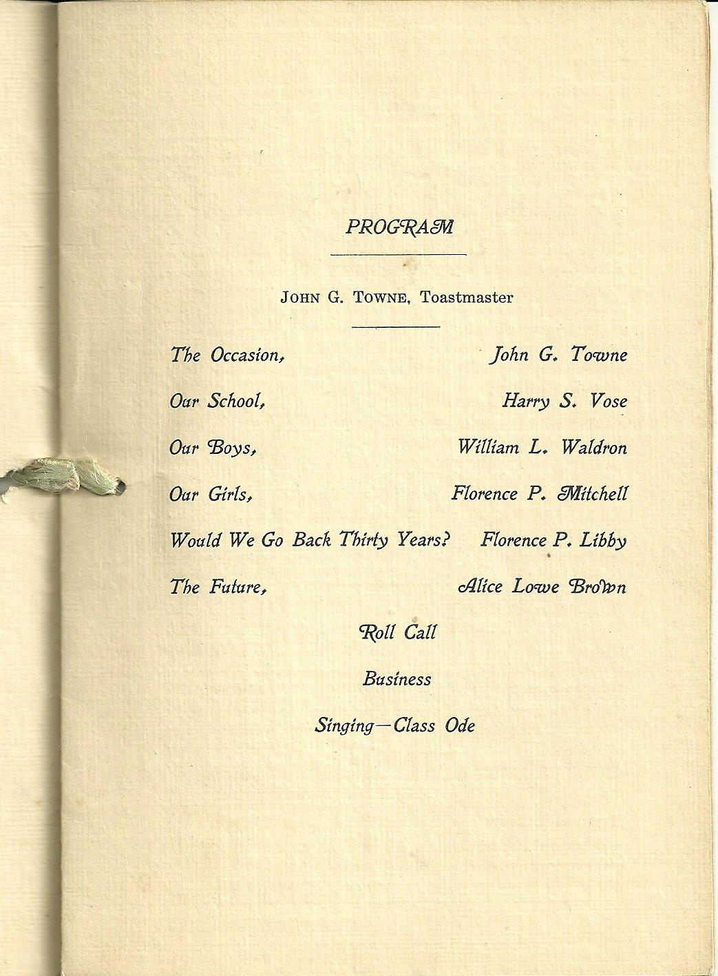 Family Reunion Program Template Lovely Heirlooms Reunited 1924 Reunion Program Bklt Of Class Of