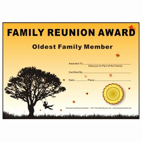 Family Reunion Program Template Unique Oldest Family Member Award Down south theme Free Family
