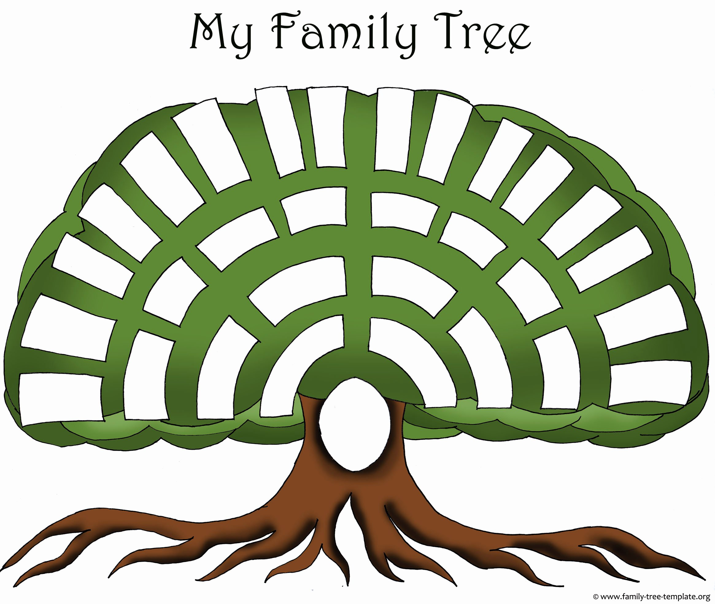Family Tree Art Template Awesome Family Tree Templates & Genealogy Clipart for Your