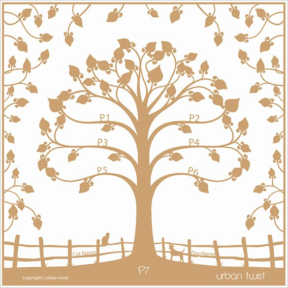 Family Tree Art Template Beautiful 15 Amazing Family Tree Art Templates & Designs