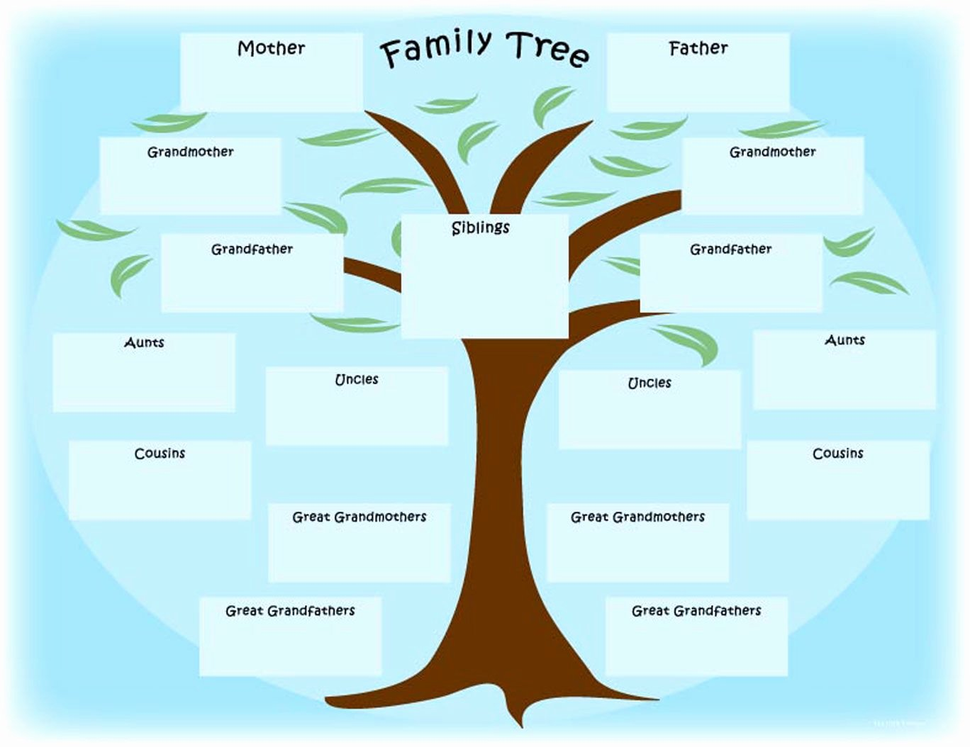 Family Tree Art Template Beautiful Simple Family Tree Templates