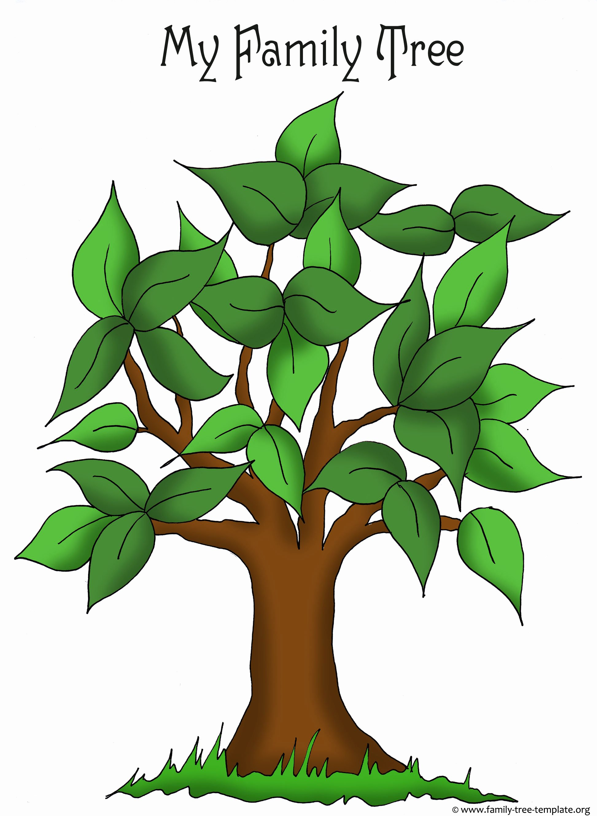 Family Tree Art Template Best Of Family Tree Templates & Genealogy Clipart for Your