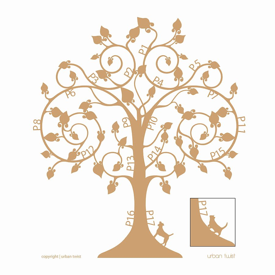 Family Tree Art Template Fresh Personalised Family Tree Wall Art by Urban Twist