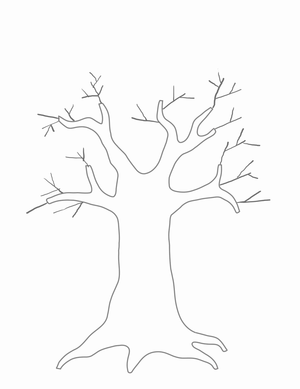 Family Tree Art Template Fresh Printable Tree Template Coloring Home