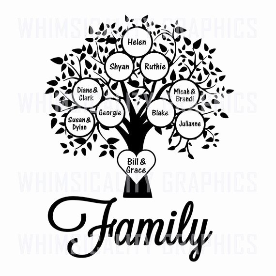 Family Tree Art Template Inspirational Digital File Family Tree Blank Template with Svg Dxf Png