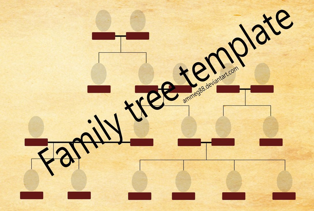 Family Tree Art Template Lovely Family Tree Template by Ammeg88 On Deviantart