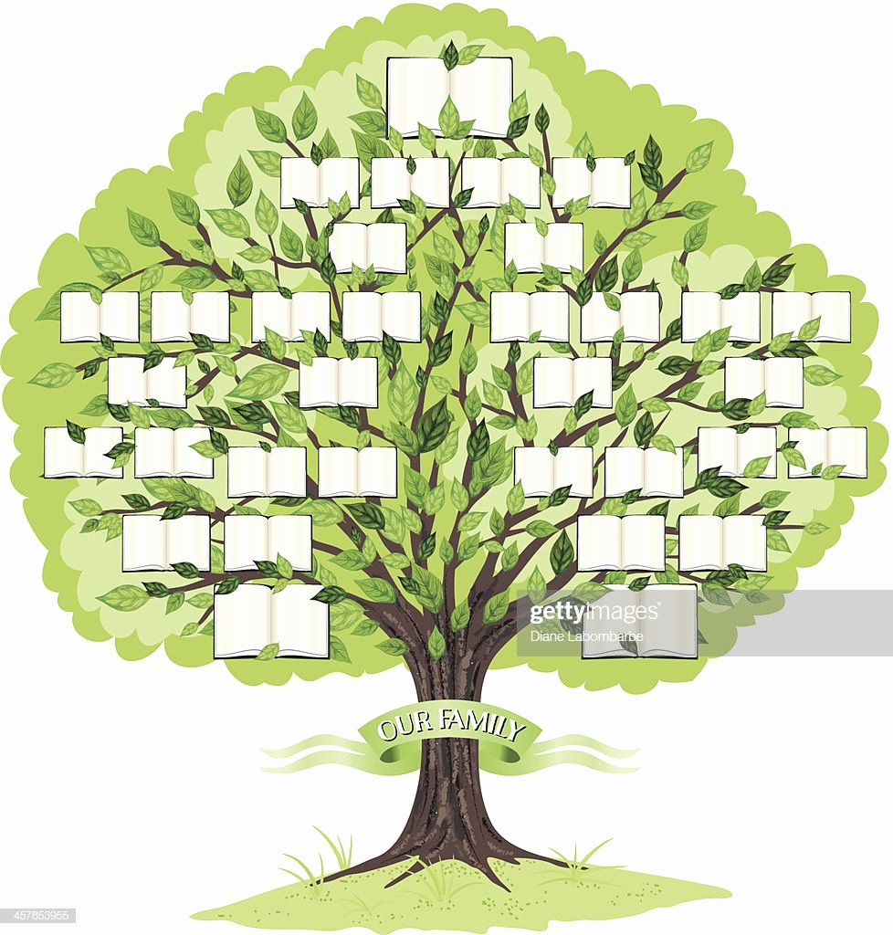 Family Tree Art Template New Family Tree Template Vector Art