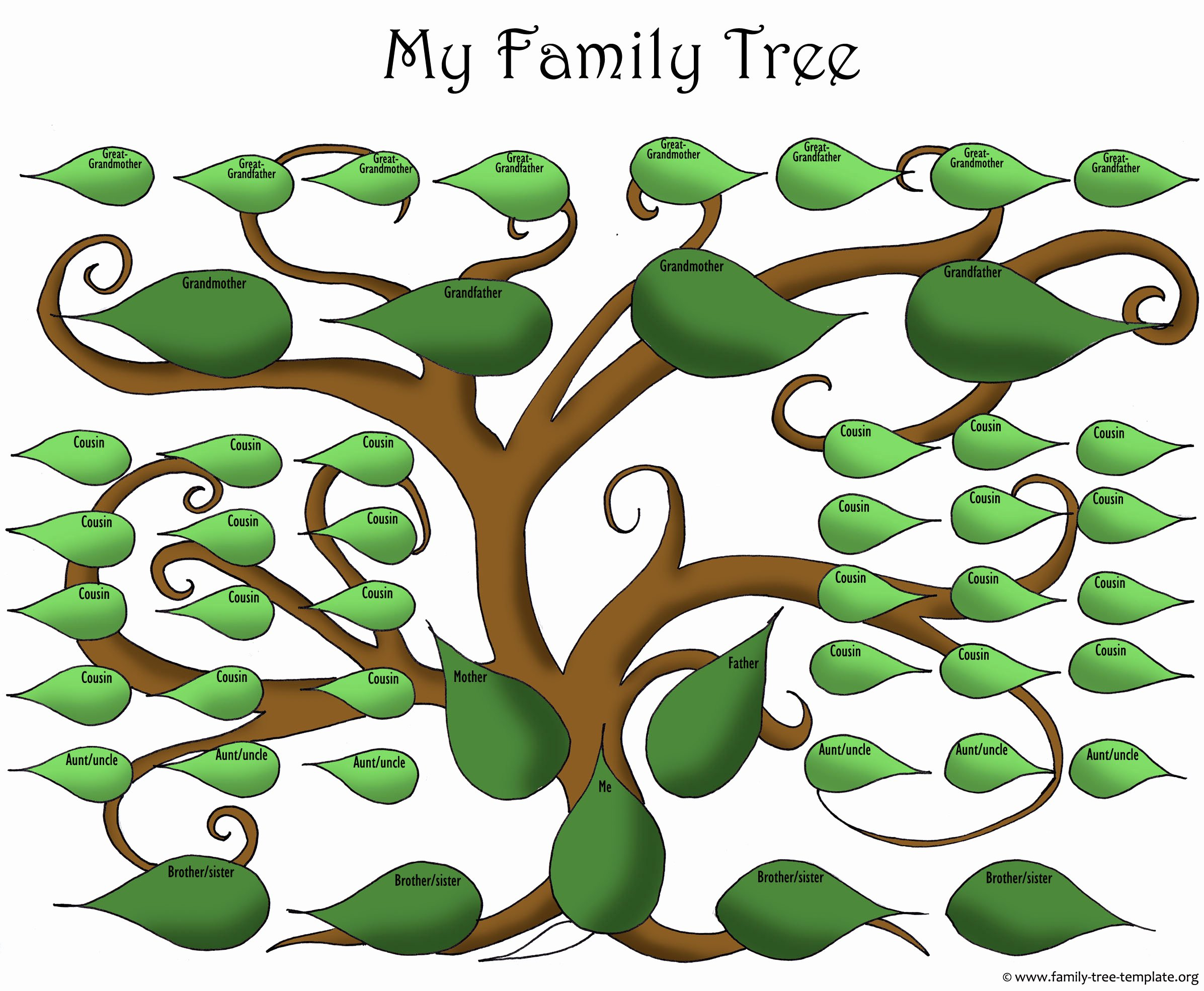 Family Tree Art Template Unique Family Tree Templates Clip Art – 101 Clip Art