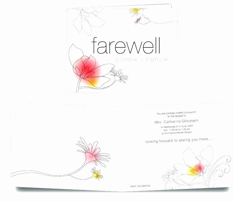 Farewell Invitation Template Free Beautiful Farewell Card Template – Onairprojectfo