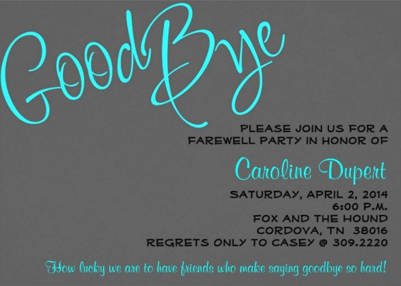 Farewell Invitation Template Free Beautiful Farewell Party Invitation Template – 20 Free Psd format