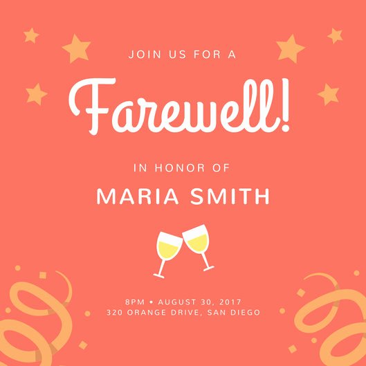 Farewell Invitation Template Free Best Of Farewell Party Invitation Templates Canva
