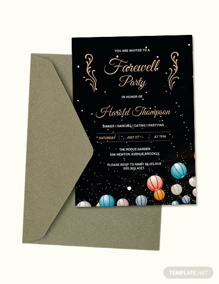 Farewell Invitation Template Free Best Of Free Vintage Farewell Party Invitation Template Download