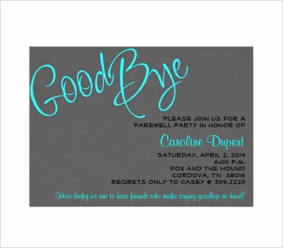 Farewell Invitation Template Free Elegant 13 Farewell Card Templates Psd Ai