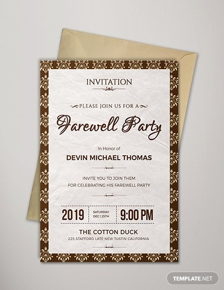 Farewell Invitation Template Free Fresh Free Farewell Potluck Invitation Template Download 518