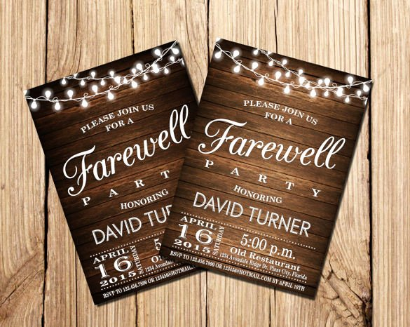 Farewell Invitation Template Free Inspirational 9 Amazing Farewell Invitation Templates to Download