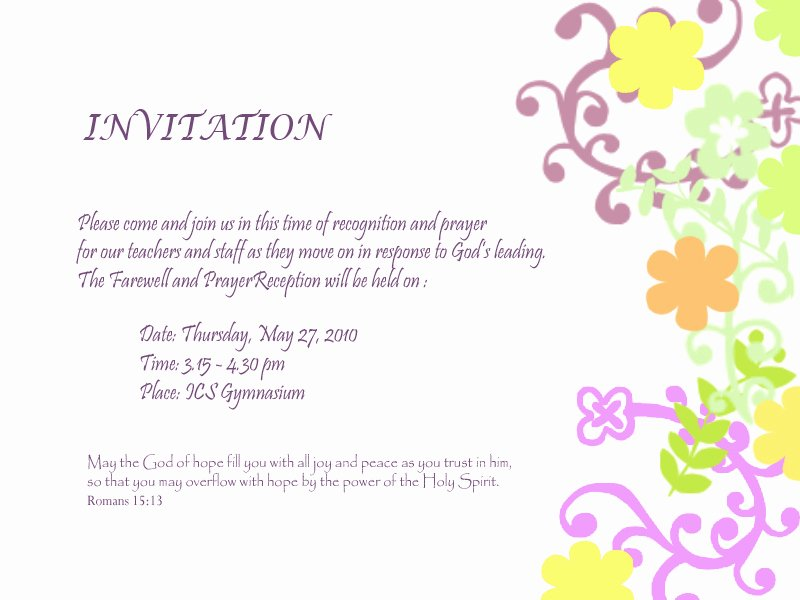 Farewell Invitation Template Free New Farewell Invitation Template