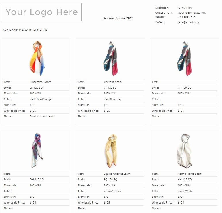 Fashion Line Sheet Template Elegant How to Create A Line Sheet