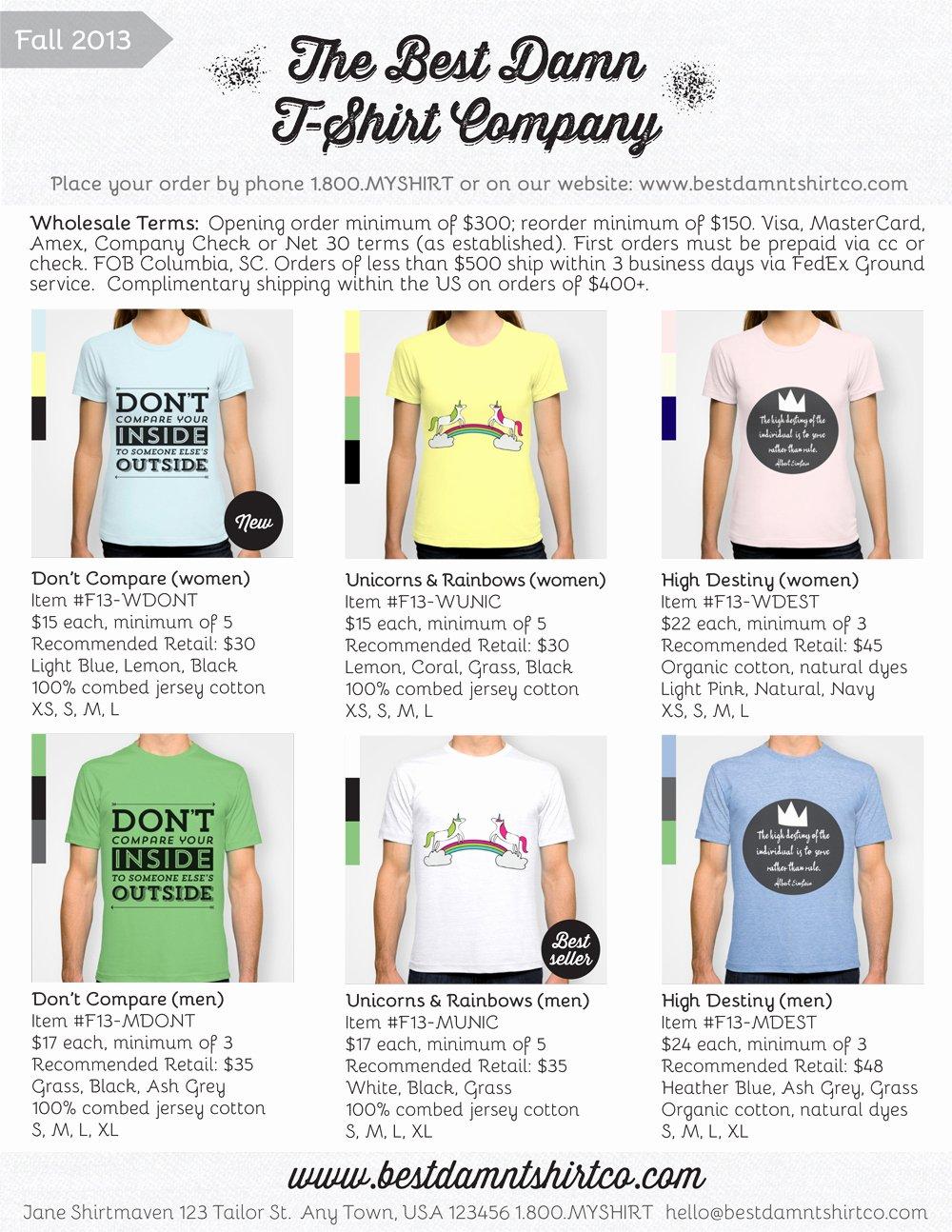 Fashion Line Sheet Template Fresh What is A Line Sheet Secrets to wholesale Success