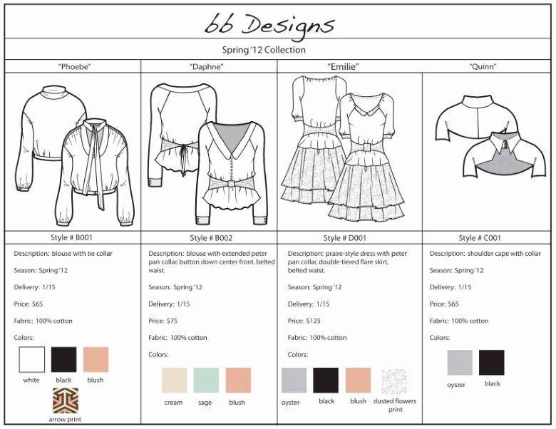 Fashion Line Sheet Template Inspirational Line Sheet Template