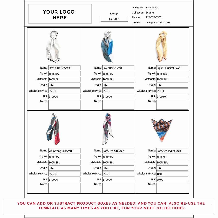 Fashion Line Sheet Template Lovely wholesale Line Sheet Template