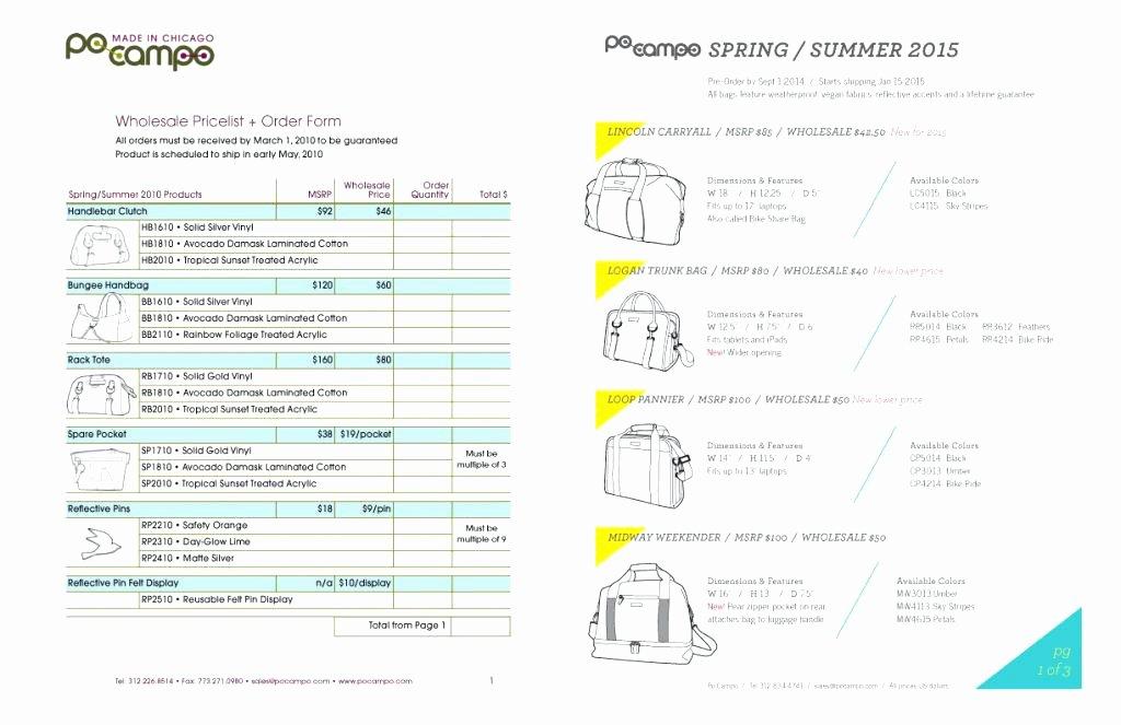 Fashion Line Sheet Template Unique Line Sheet Example – Charliejames