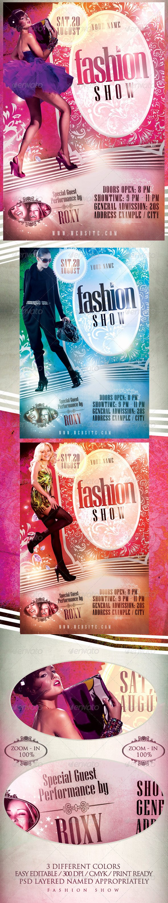 Fashion Show Flyer Template Awesome Fashion Show Flyer Template On Behance