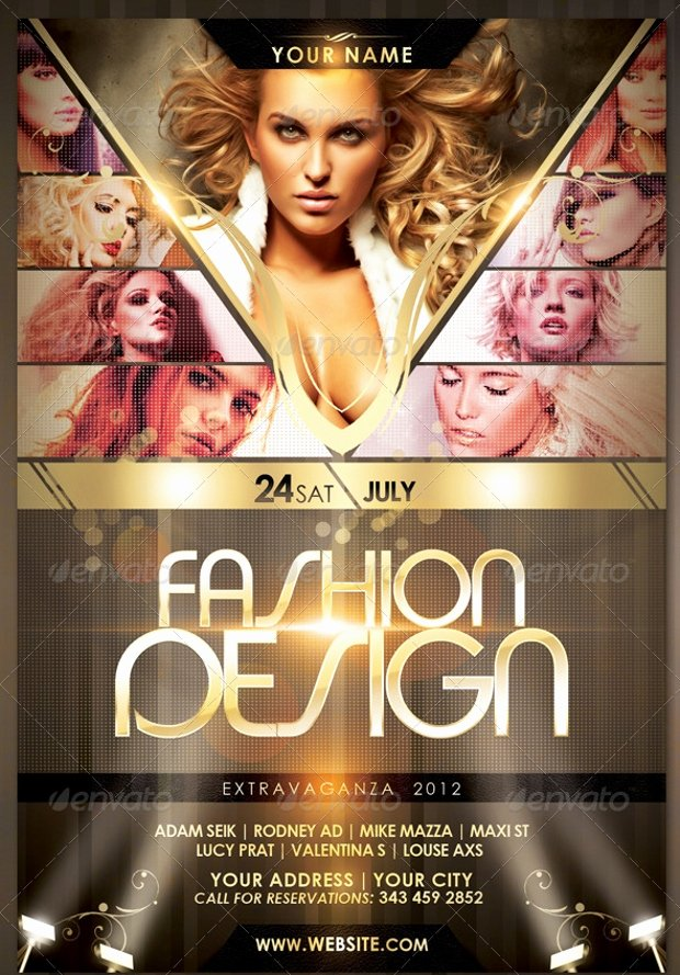 Fashion Show Flyer Template Beautiful 21 Fashion Flyer Designs Psd Download