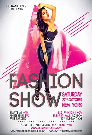 Fashion Show Flyer Template Beautiful Free Psd Flyer Templates for Shop by Elegantflyer