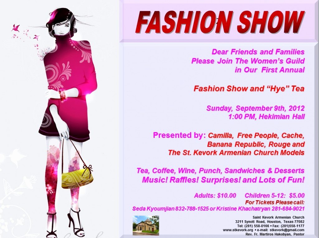Fashion Show Flyer Template Best Of September events – St Kevork Armenian Church