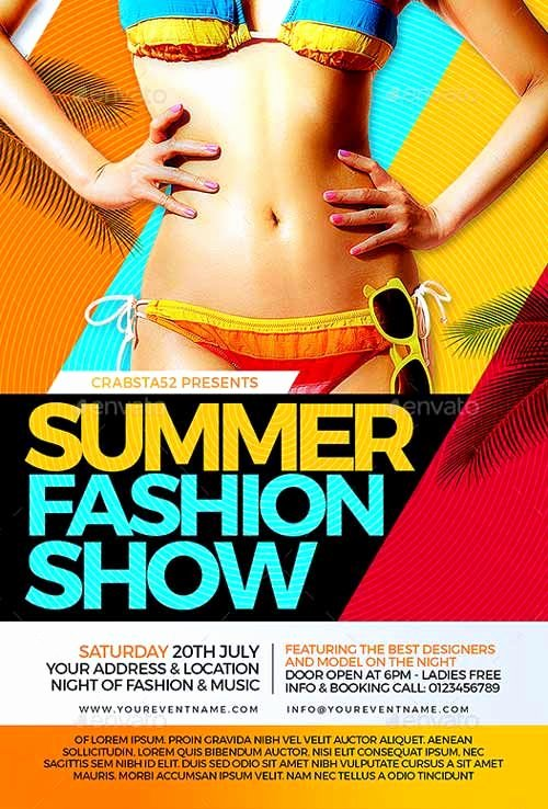 Fashion Show Flyer Template Best Of Summer Fashion Show Flyer Template