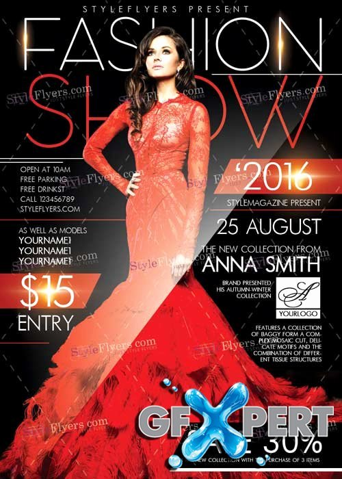 Fashion Show Flyer Template Fresh Free Fashion Show V7 Psd Flyer Template