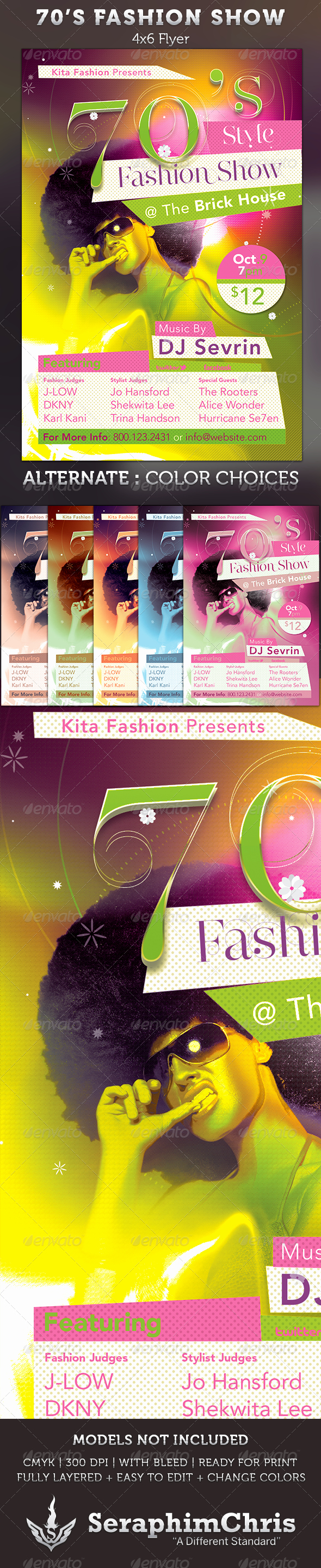 Fashion Show Flyer Template Inspirational 70 S Fashion Show Flyer Template by Seraphimchris