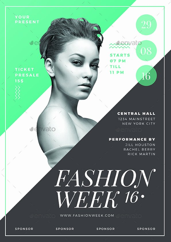 Fashion Show Flyer Template Inspirational Fashion Show Flyer 03 Vynetta Graphicriver Fashion Show