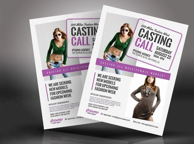 Fashion Show Flyer Template Lovely 20 Talent Show Flyer Templates Printable Psd Ai