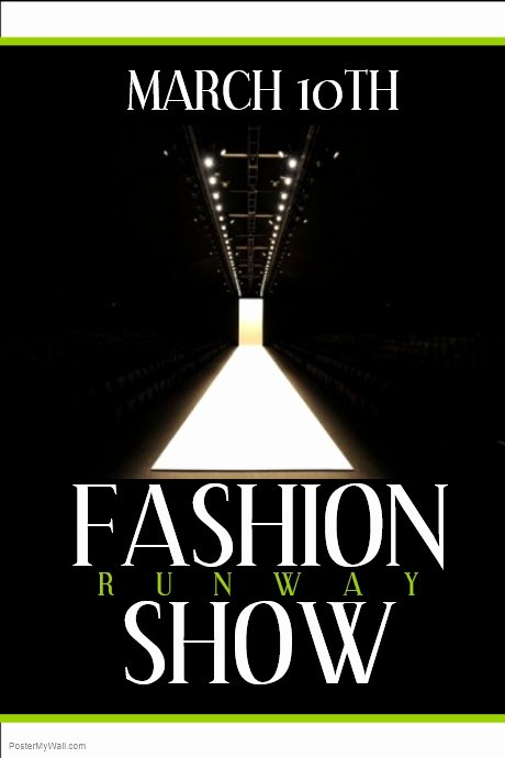 Fashion Show Flyer Template Lovely Fashion Show Template