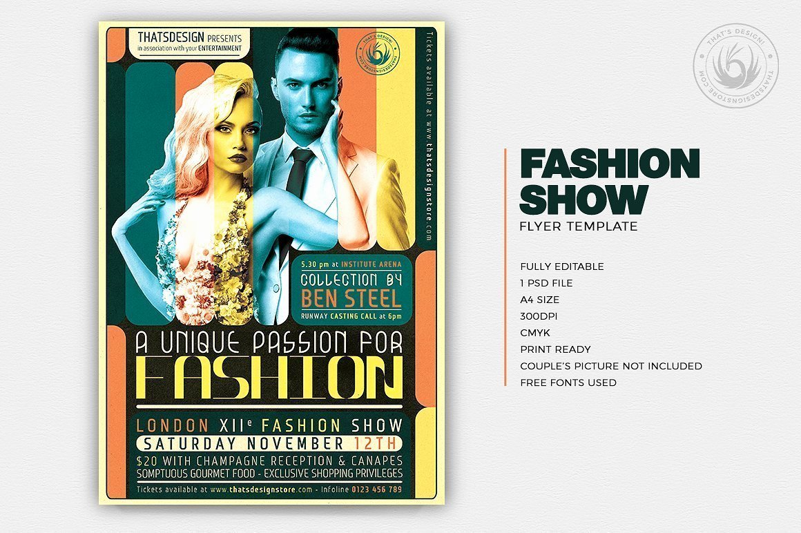Fashion Show Flyer Template New Fashion Show Flyer Template
