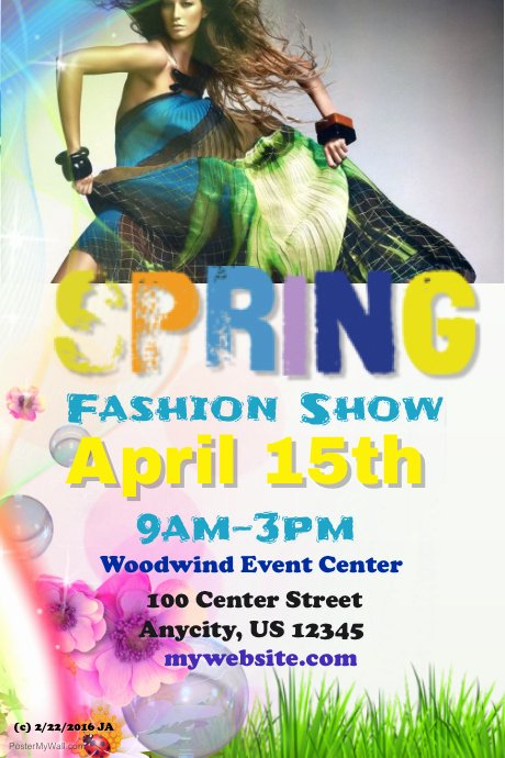 Fashion Show Flyer Template Unique Postermywall