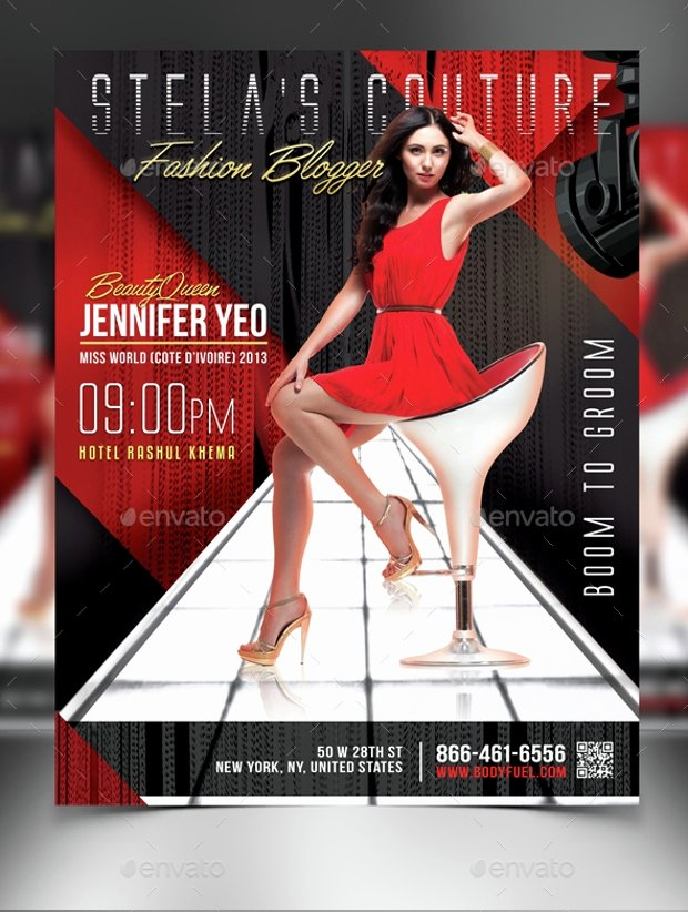Fashion Show Flyers Template Awesome 21 Fashion Flyer Designs Psd Download