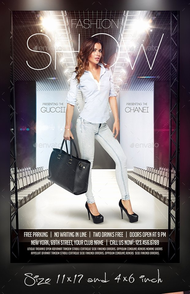 Fashion Show Flyers Template Beautiful 21 Fashion Flyer Designs Psd Download
