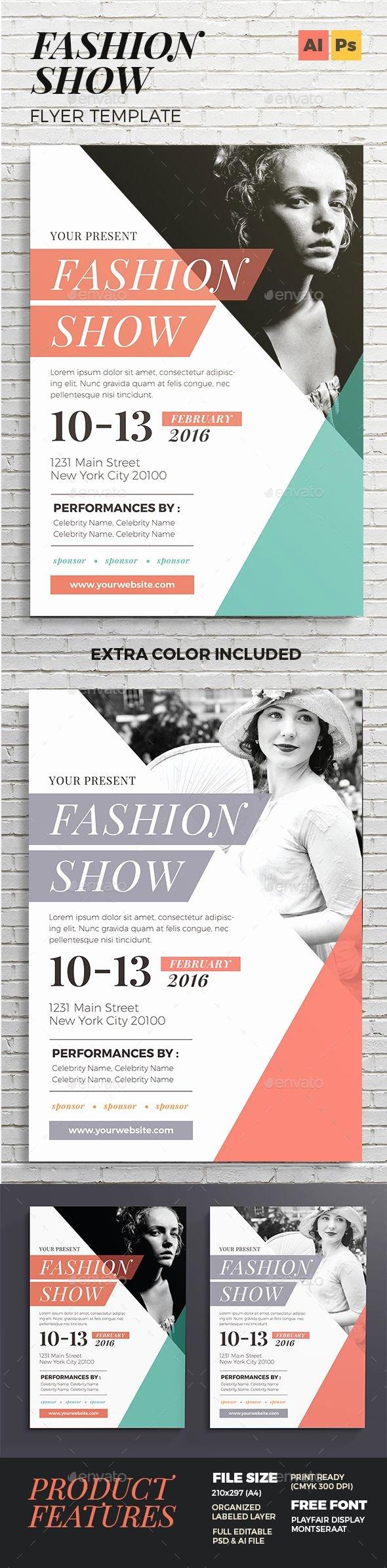 Fashion Show Flyers Template Beautiful Best 25 Flyer Design Ideas On Pinterest