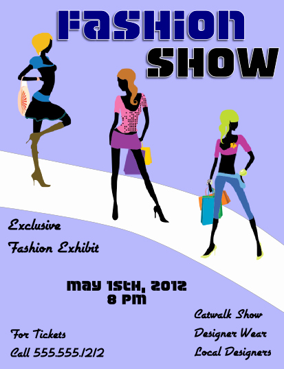 Fashion Show Flyers Template Beautiful Fashion Show Flyer Template View