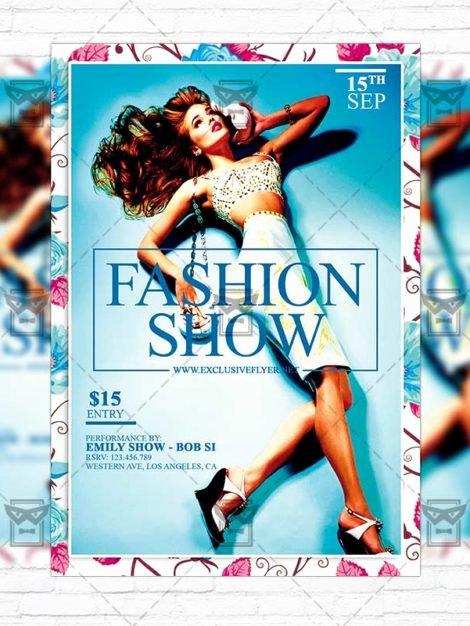 fashion show premium flyer template instagram size flyer