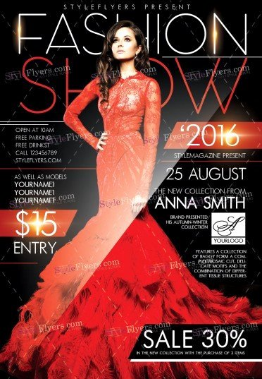 Fashion Show Flyers Template Best Of Fashion Show Psd Flyer Template Styleflyers
